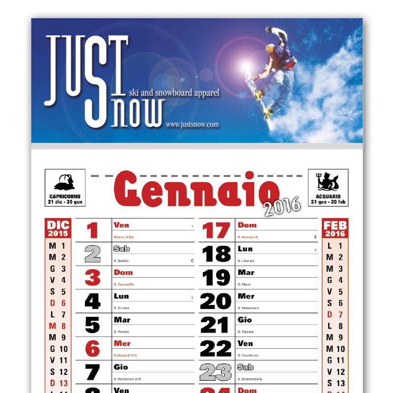 Calendario Parete.Calendari Personalizzati Da Muro E Da Tavolo 2018